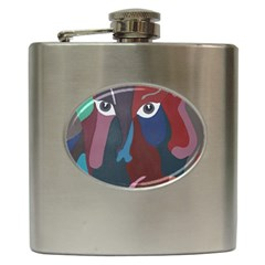 Abstract God Pastel Hip Flask