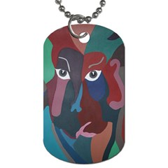 Abstract God Pastel Dog Tag (two Sided)