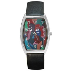 Abstract God Pastel Tonneau Leather Watch