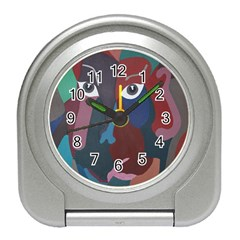 Abstract God Pastel Desk Alarm Clock