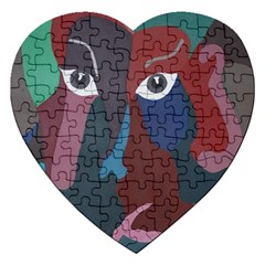 Abstract God Pastel Jigsaw Puzzle (Heart)