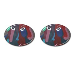 Abstract God Pastel Cufflinks (Oval)