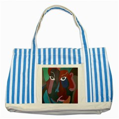 Abstract God Pastel Blue Striped Tote Bag