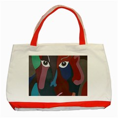 Abstract God Pastel Classic Tote Bag (red)