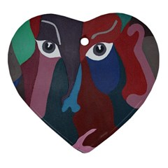 Abstract God Pastel Heart Ornament (Two Sides)