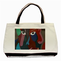 Abstract God Pastel Twin Sided Black Tote Bag