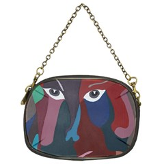 Abstract God Pastel Chain Purse (two Sided)