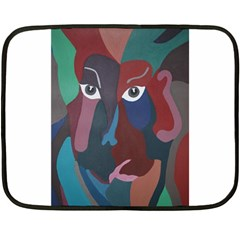 Abstract God Pastel Mini Fleece Blanket (Two Sided)