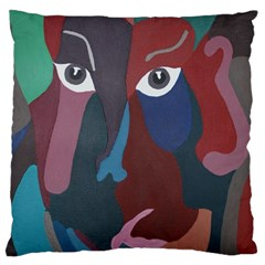 Abstract God Pastel Large Cushion Case (two Sided)