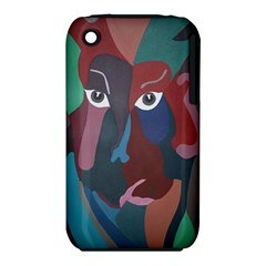 Abstract God Pastel Apple iPhone 3G/3GS Hardshell Case (PC+Silicone)