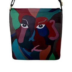 Abstract God Pastel Flap Closure Messenger Bag (Large)