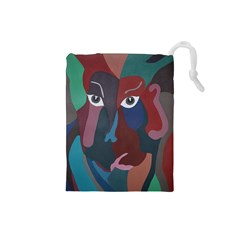 Abstract God Pastel Drawstring Pouch (Small)