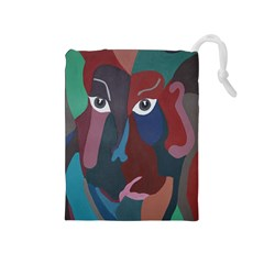 Abstract God Pastel Drawstring Pouch (Medium)
