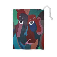 Abstract God Pastel Drawstring Pouch (large)