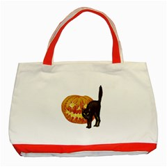 Halloween Vintage Classic Tote Bag (Red)