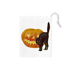 Halloween Vintage Drawstring Pouch (Small)