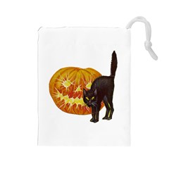 Halloween Vintage Drawstring Pouch (Large)