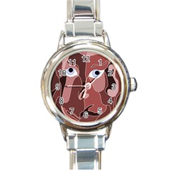 Abstract God Lilac Round Italian Charm Watch
