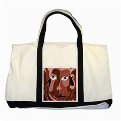 Abstract God Lilac Two Toned Tote Bag
