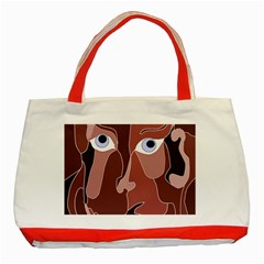 Abstract God Lilac Classic Tote Bag (Red)