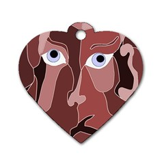 Abstract God Lilac Dog Tag Heart (One Sided)