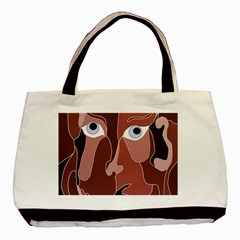 Abstract God Lilac Twin-sided Black Tote Bag