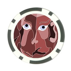 Abstract God Lilac Poker Chip