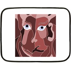 Abstract God Lilac Mini Fleece Blanket (Two Sided)