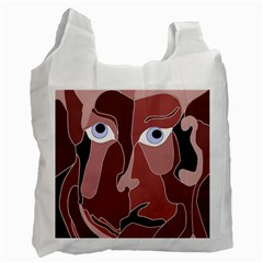 Abstract God Lilac White Reusable Bag (One Side)