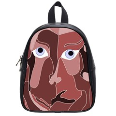 Abstract God Lilac School Bag (small)