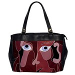 Abstract God Lilac Oversize Office Handbag (One Side) Front