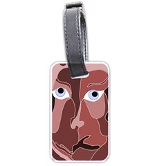 Abstract God Lilac Luggage Tag (two Sides)