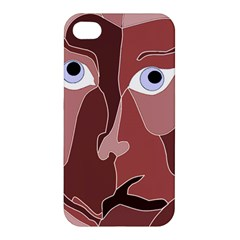 Abstract God Lilac Apple Iphone 4/4s Premium Hardshell Case
