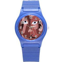 Abstract God Lilac Plastic Sport Watch (small)