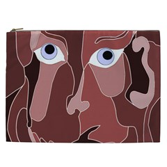 Abstract God Lilac Cosmetic Bag (xxl)
