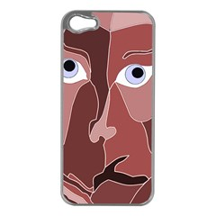 Abstract God Lilac Apple Iphone 5 Case (silver)