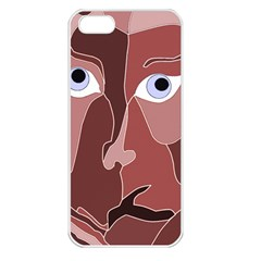 Abstract God Lilac Apple Iphone 5 Seamless Case (white)