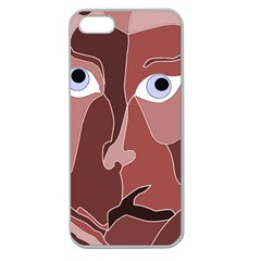 Abstract God Lilac Apple Seamless Iphone 5 Case (clear)