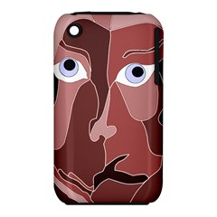 Abstract God Lilac Apple iPhone 3G/3GS Hardshell Case (PC+Silicone)