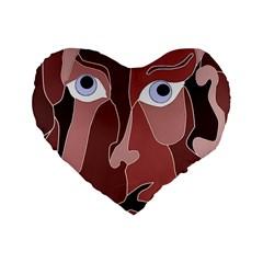 Abstract God Lilac 16  Premium Heart Shape Cushion