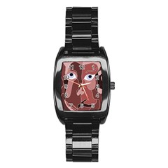 Abstract God Lilac Stainless Steel Barrel Watch