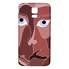 Abstract God Lilac Samsung Galaxy S5 Back Case (White)