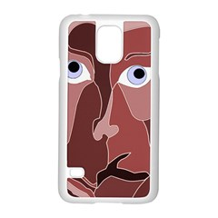 Abstract God Lilac Samsung Galaxy S5 Case (white)