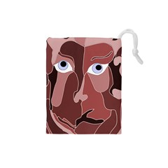 Abstract God Lilac Drawstring Pouch (Small)