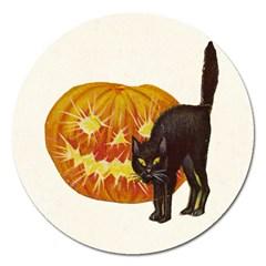 Halloween Vintage Magnet 5  (Round)