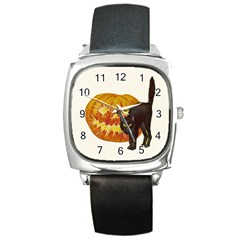 Halloween Vintage Square Leather Watch