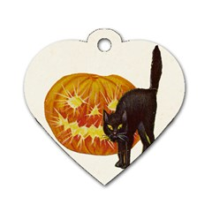 Halloween Vintage Dog Tag Heart (One Sided)
