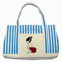 Frankie s Pin Up Blue Striped Tote Bag