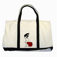 Frankie s Pin Up Two Toned Tote Bag