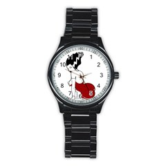 Frankie s Pin Up Sport Metal Watch (Black)
